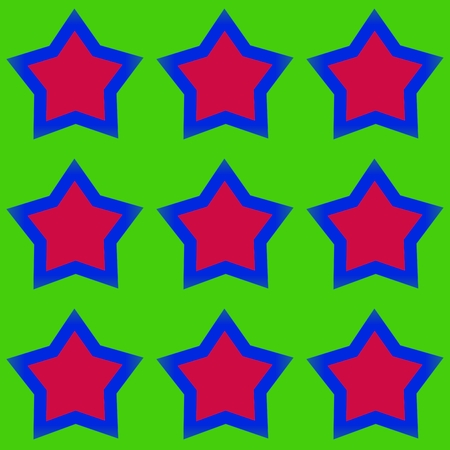 gaudy: Abstract pattern with five-pointed stars