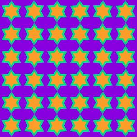 garish: Tileable yellow green purple starlit pattern