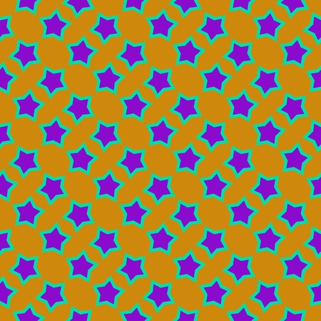 pentacle: Regular pattern of purple stars on yellow background