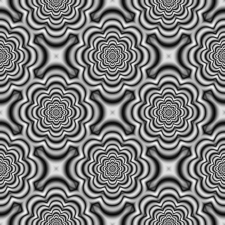 regular: Black white regular floral pattern