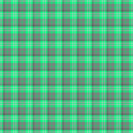subdue: Green gray seamless regular checkered pattern with cloth texture - digitally rendered background Stock Photo