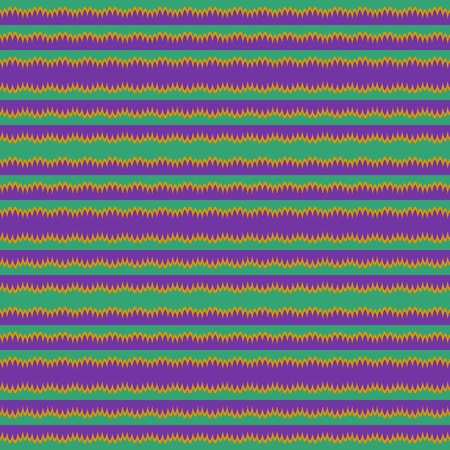 horizontally: Tileable horizontally purple green yellow striped pattern in retro style