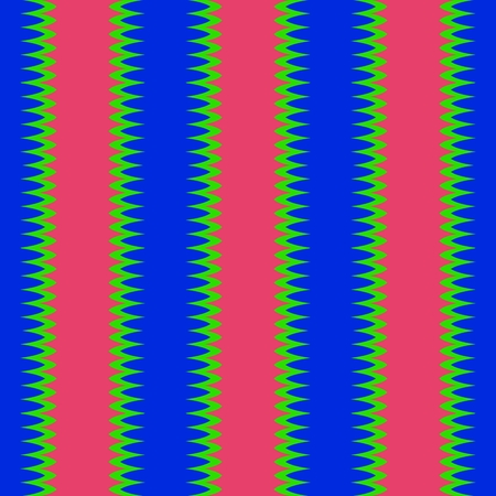 sidebar: Seamless vertical red blue stripes with jagged edge with green trim