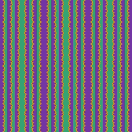 striped band: Seamless vertical violet green yellow stripes Stock Photo