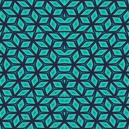 tonality: Modern trendy turquoise geometric symmetrical pattern - digitally rendered graphic