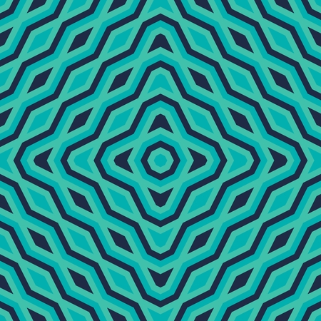 tonality: Modern trendy turquoise geometric symmetrical pattern - digitally rendered graphic