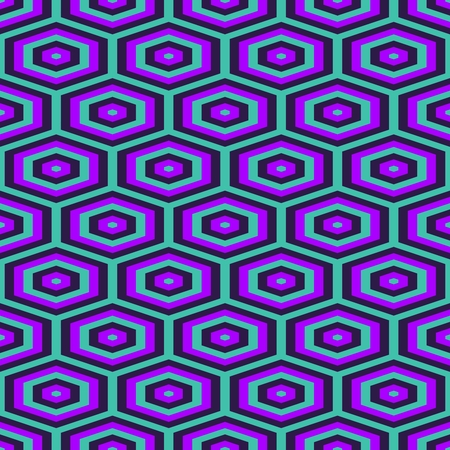 rendered: Abstract geometrical decorative blue purple tileable pattern - digitally rendered graphic