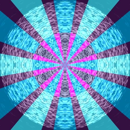 Abstract purple blue decorative radiant mandala - computer generated design