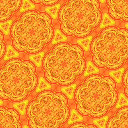 secession: Yellow monochromatic floral pattern