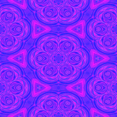 mirroring: Abstract pink purple violet kaleidoscope fractal floral pattern Stock Photo