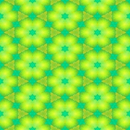 Abstract turquoise yellow seamless ornamental background Stock Photo