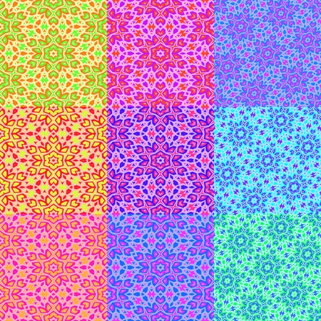 pastel colored: Set of pastel colored floral backgrounds
