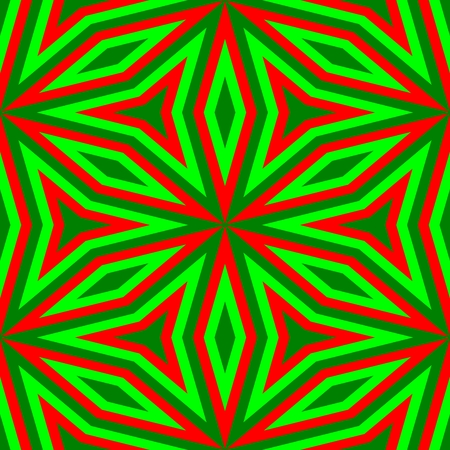 gaudy: Abstract floral vibrant red green pattern