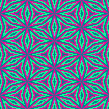 garish: Abstract floral opalescent blue pink pattern