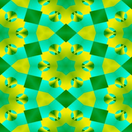 gaudy: Blue green yellow ornamental kaleidoscope wallper