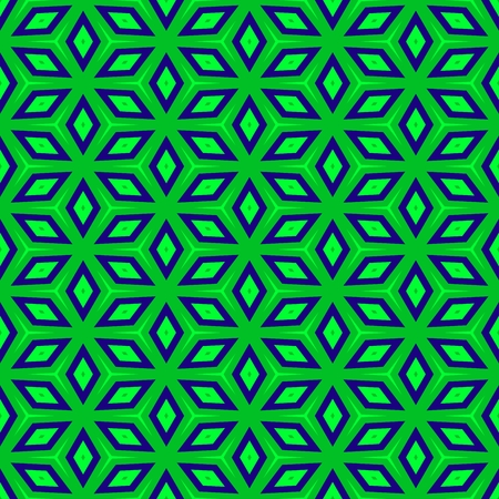 regular: Green blue regular symmetric seamless hexagonal pattern