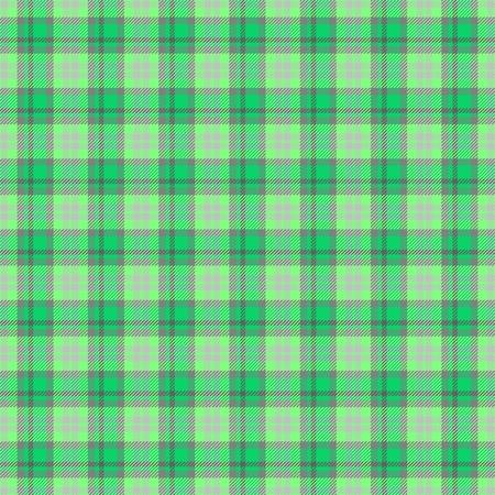 scots: Checkered green gray seamless pattern
