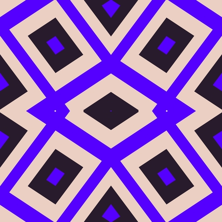 garish: Abstract geometrical pattern in cubist style with garish violet color Stock Photo