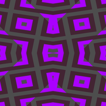 Abstract violet symmetrical geometric pattern in cubist style