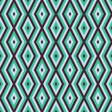 white: Abstract geometric minimalists seamless pattern in retro style in trendy turquoise brown tones