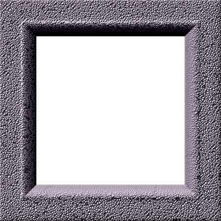 rendered: Digitally rendered frame with concrete texture - digitally rendered design Stock Photo