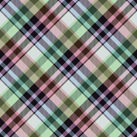 hanky: Abstract seamless checkered green pink gray white textile pattern - digitally rendered graphic