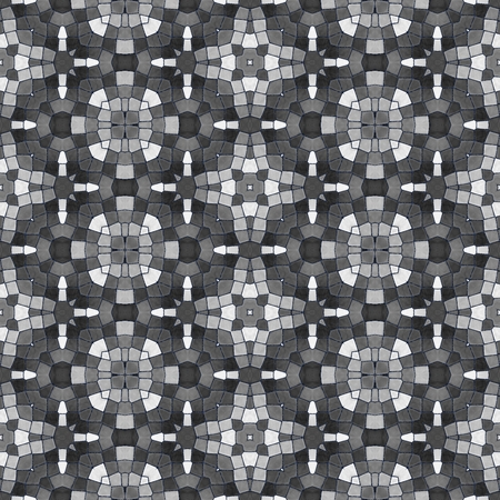 tiling: Black white kaleidoscopic seamless tiling pattern Stock Photo