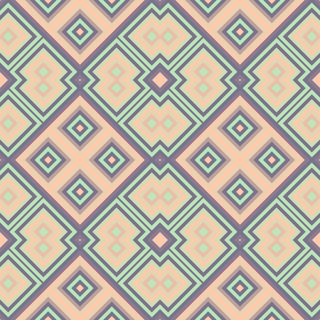 muted: Abstract geometric blue white pink lilac muted seamless pattern