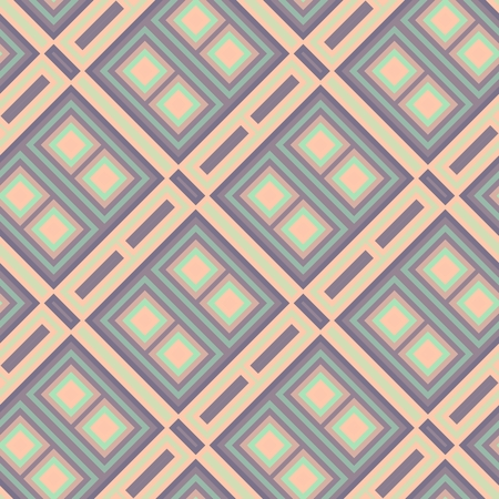muted: Abstract seamless decorative geometric pattern in trendy muted colors