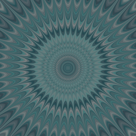 backcloth: Muted blue round concentric sprockets - digitally rendered background Stock Photo