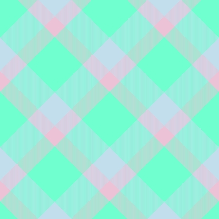 Abstract seamless checkered textile pattern - digitally rendered graphic Stock Photo