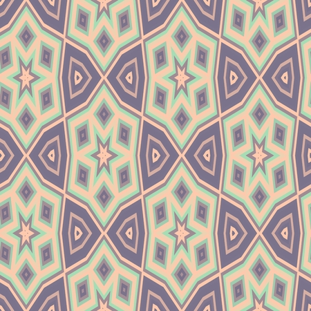 muted: Abstract seamless muted bright ornamental pattern