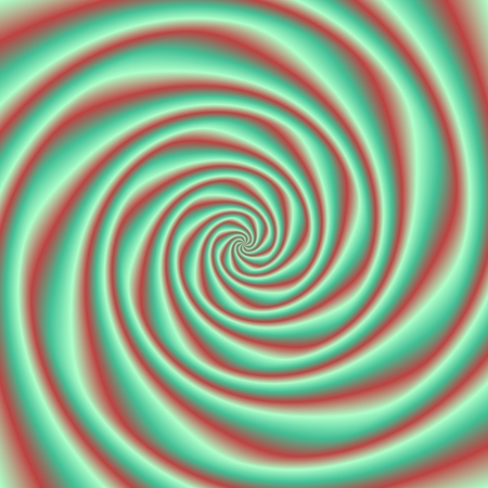 whirpool: Red turquoise shining swirl in trendy complementary colors - digitally rendered background