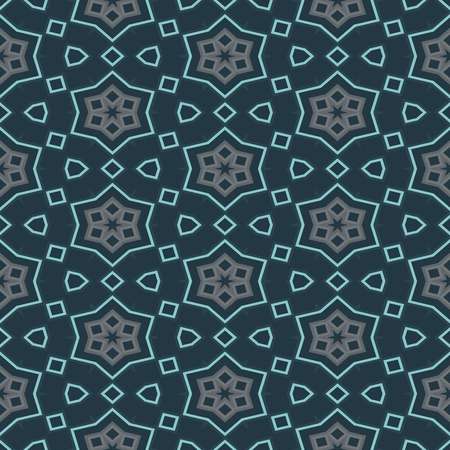 muted: Abstract decorative oriental floral seamless pattern in retro style and muted trendy colors