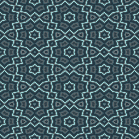 rendered: Floral tileable blue wrapping paper - digitally rendered pattern