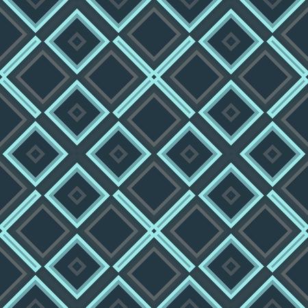 azul turqueza: Abstract geometric blue turquoise gray seamless pattern