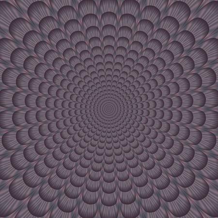 rendered: Flowery petal background in old lavender shades - digitally rendered pattern