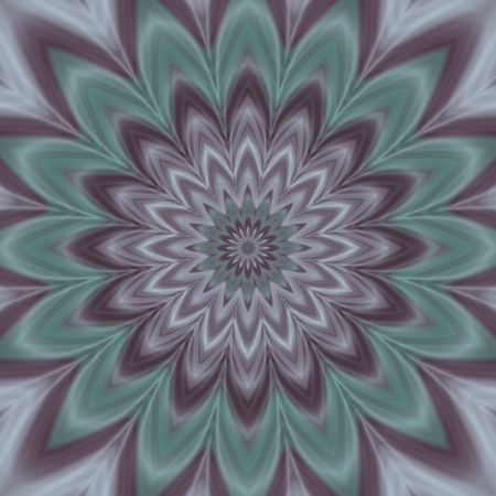 muted: Muted colors floral abstract pattern - computer generated graphic