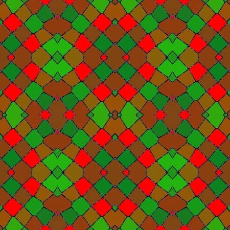 symmetrical: Abstract red green mosaic kaleidoscopic symmetrical pattern Stock Photo