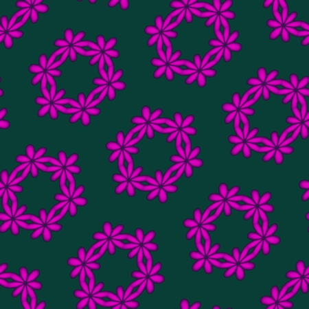 agressive: Abstract floral purple green seamless oblique pattern