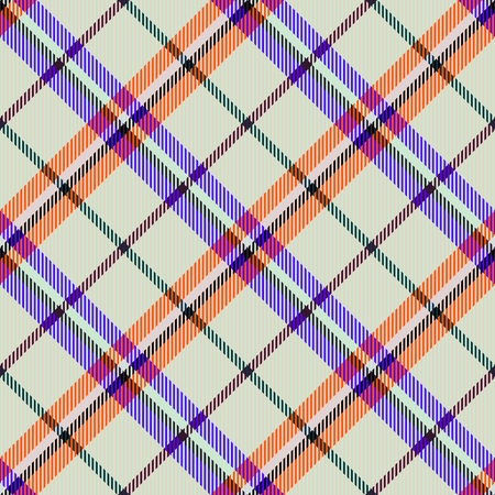 diagonally: Abstract checkered modern seamless diagonally pattern with fabric texture - digitally rendered design