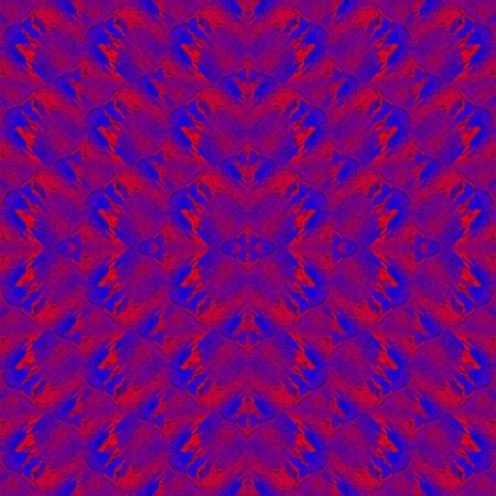 shocking: Abstract garish red blue kaleidoscopic seamless pattern