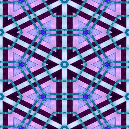 digitally: Abstract kaleidoscopic turquoise pink purple blue seamless digitally rendered pattern