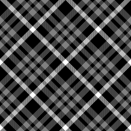 diagonally: Abstract black white checked modern seamless diagonally pattern with fabric texture - digitally rendered design