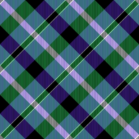 crossover: Crossover stripes creating seamless checkered blue green pink violet pattern