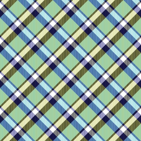 diagonally: Abstract black white blue yellow green bright checked crossover striped diagonally seamless pattern