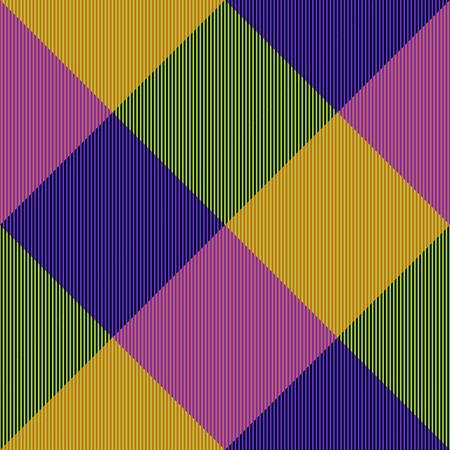 oblique: Shining purple blue yellow green oblique checkerboard - digitally rendered fabric texture