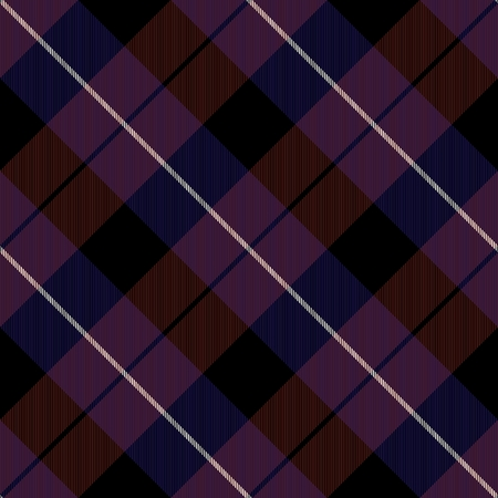 diagonally: Abstract dark brown blue purple white stripes creating checked crossover striped diagonally seamless pattern