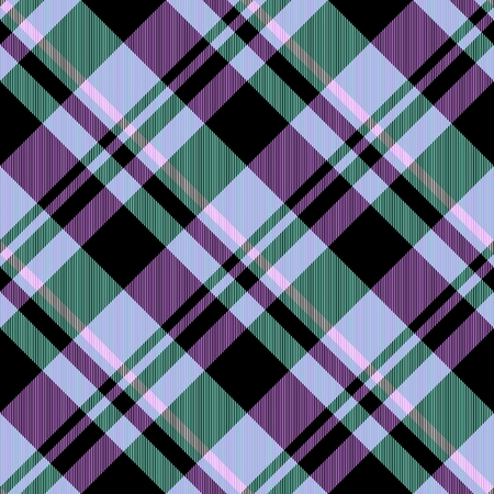 crossover: Abstract purple green checked crossover striped diagonally seamless pattern
