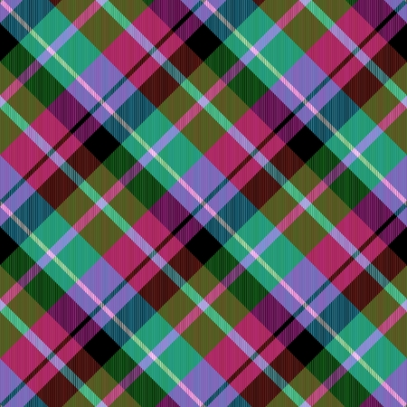 crossover: Abstract green lilac red blue checked crossover striped diagonally seamless pattern